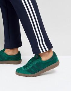 Зеленые замшевые кроссовки adidas Originals Bermuda BY9658 - Зеленый