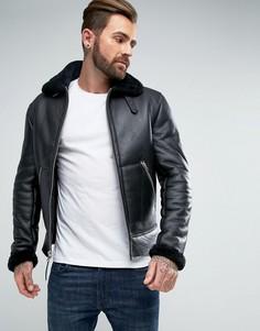 Черная облегающая куртка-пилот Schott - Черный