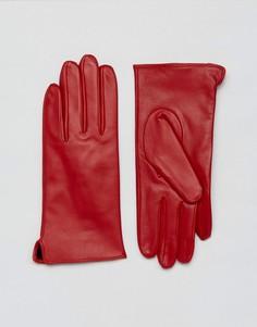 Перчатки из натуральной кожи Barneys - Красный Barneys Originals