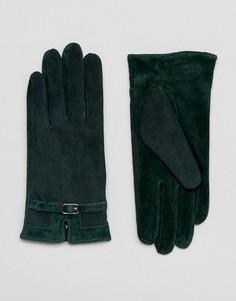 Перчатки из натуральной кожи Barneys - Зеленый Barneys Originals
