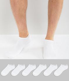 Комплект из 6 пар спортивных носков Calvin Klein - Белый