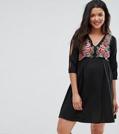 Платье с вышивкой ASOS Maternity - Черный