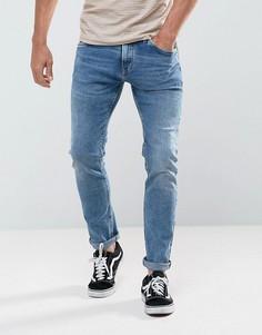 Светлые джинсы слим Tom Tailor - Синий