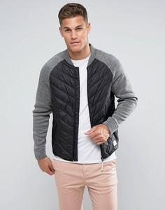 Дутая куртка с рукавами реглан Tom Tailor - Черный