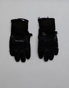 Перчатки с прочной нескользящей отделкой на ладонях Volcom - Черный