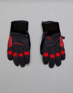 Перчатки с прочной нескользящей отделкой на ладонях Volcom Snow Crail - Черный