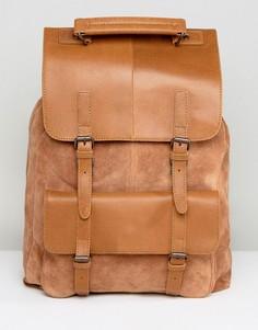 Светло-коричневый рюкзак из замши и кожи ASOS - Рыжий