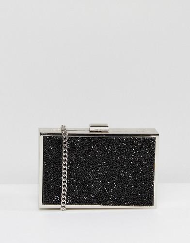 Блестящий структурированный клатч Miss KG - Черный
