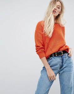 Джемпер крупной вязки Brave Soul - Оранжевый