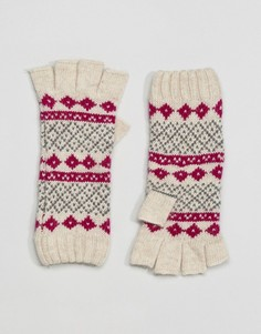 Перчатки с наполовину открытыми пальцами и узором Фэйр-Айл Alice Hannah - Мульти