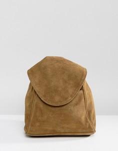 Замшевый рюкзак с кольцом ASOS - Зеленый