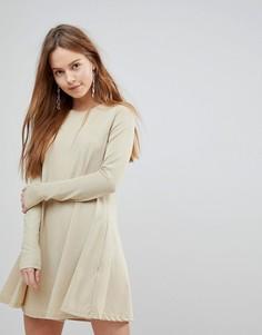 Свободное платье с люрексом Glamorous - Золотой