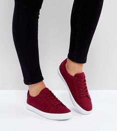 Кроссовки для широкой стопы на шнуровке ASOS DEVLIN - Красный