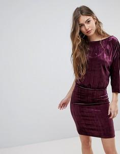 Бархатное платье для вечеринок Blend She - Фиолетовый