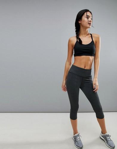 Серые леггинсы длиной 3/4 adidas Training - Черный