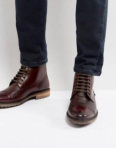 Бордовые кожаные ботинки Silver Street - Красный