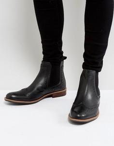 Черные кожаные ботинки челси Silver Street - Черный