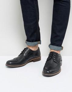 Черные кожаные броги Silver Street - Черный