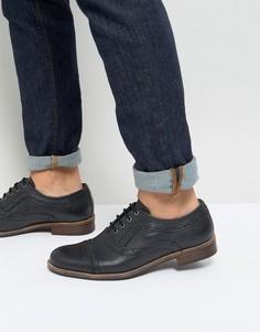 Черные кожаные броги Silver Street Milled - Черный