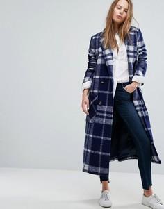 Удлиненное шерстяное пальто в клетку Tommy Hilfiger Denim - Мульти