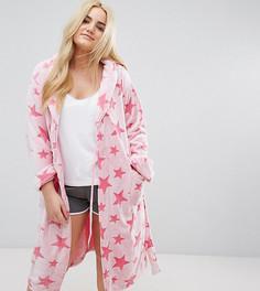 Розовый халат со звездами Yours - Розовый