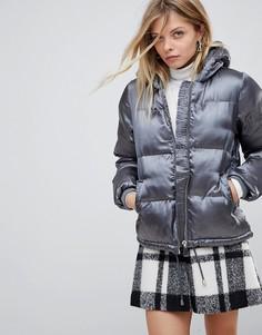 Дутая куртка QED London - Серый