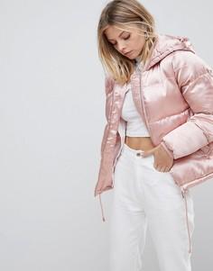 Дутая куртка QED London - Розовый