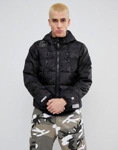 Двусторонняя дутая куртка с капюшоном AAPE By A Bathing Ape - Черный