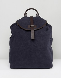 Темно-синий рюкзак из парусины и кожи Paul Costelloe - Синий