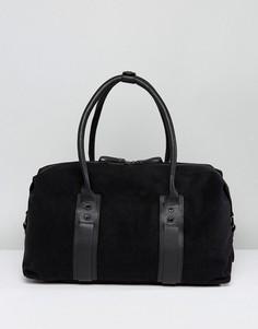 Черная спортивная сумка из парусины и кожи Paul Costelloe - Черный