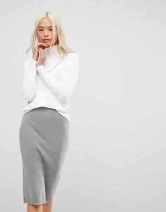 Джемпер с V-образным вырезом и карманами Subtle Luxury - Белый
