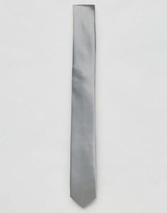 Серый однотонный галстук Devils Advocate - Серый