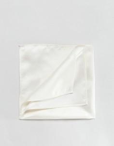 Белый однотонный платок для нагрудного кармана Devils Advocate - Белый
