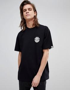 Черная футболка с маленьким логотипом Element - Черный