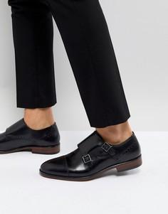 Черные кожаные монки Burton Menswear - Черный