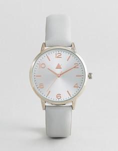 Часы с кожаным ремешком ASOS - Серый