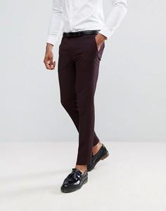 Темно-бордовые брюки скинни Burton Menswear - Коричневый