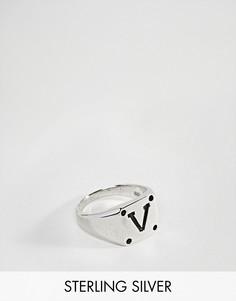 Серебряное кольцо с печаткой ASOS - Серебряный