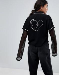 Рубашка Lazy Oaf Beyond Repair - Черный