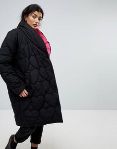 Дутая оверсайз-куртка с контрастной подкладкой Lazy Oaf - Черный