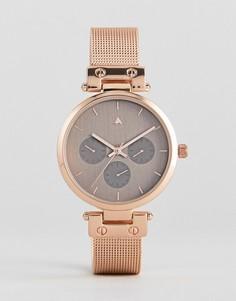 Часы с сетчатым ремешком ASOS Premium - Медный
