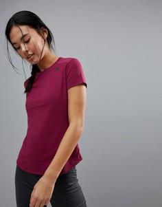 Бордовая футболка с сетчатыми вставками adidas Training Prime Mix - Фиолетовый