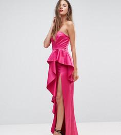 Платье-бандо макси с оборкой TTYA BLACK - Розовый Taller Than Your Average