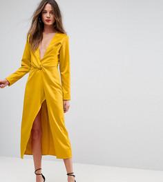 Платье миди с запахом и узлом TTYA BLACK - Желтый Taller Than Your Average