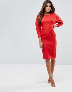 Платье-футляр миди в стиле 80-х ASOS - Красный