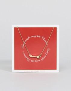 Ожерелье с подвеской-стрелой Johnny Loves Rosie - Золотой