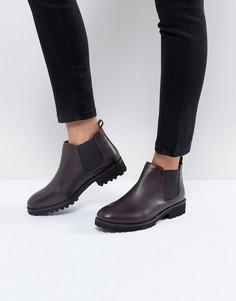 Кожаные ботинки челси ASOS ANALISE - Красный
