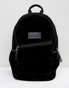 Черный рюкзак из искусственного меха Systvm - Черный