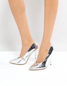 Туфли с острым носом и высокой союзкой Office - Серебряный