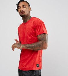 Красная футболка из искусственной замши Sixth June - Красный
